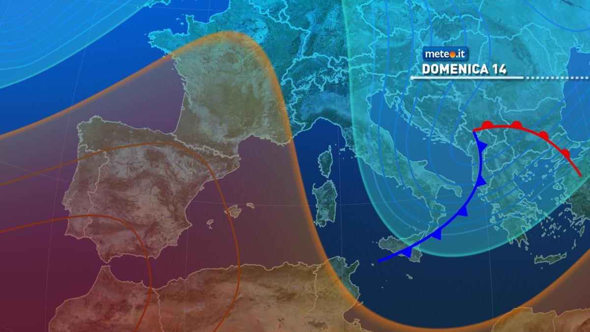 Meteo, domenica 14 febbraio clima gelido sull'Italia