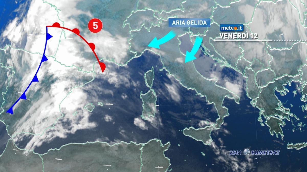 Meteo, da oggi 12 febbraio ondata di gelo e neve sull'Italia