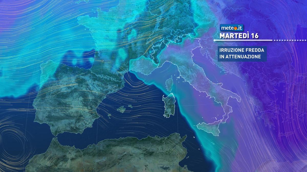Meteo, da martedì 16 febbraio graduale aumento delle temperature