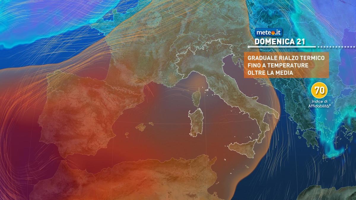 Meteo, alta pressione in rinforzo: sole e clima mite nel weekend del 20-21 febbraio