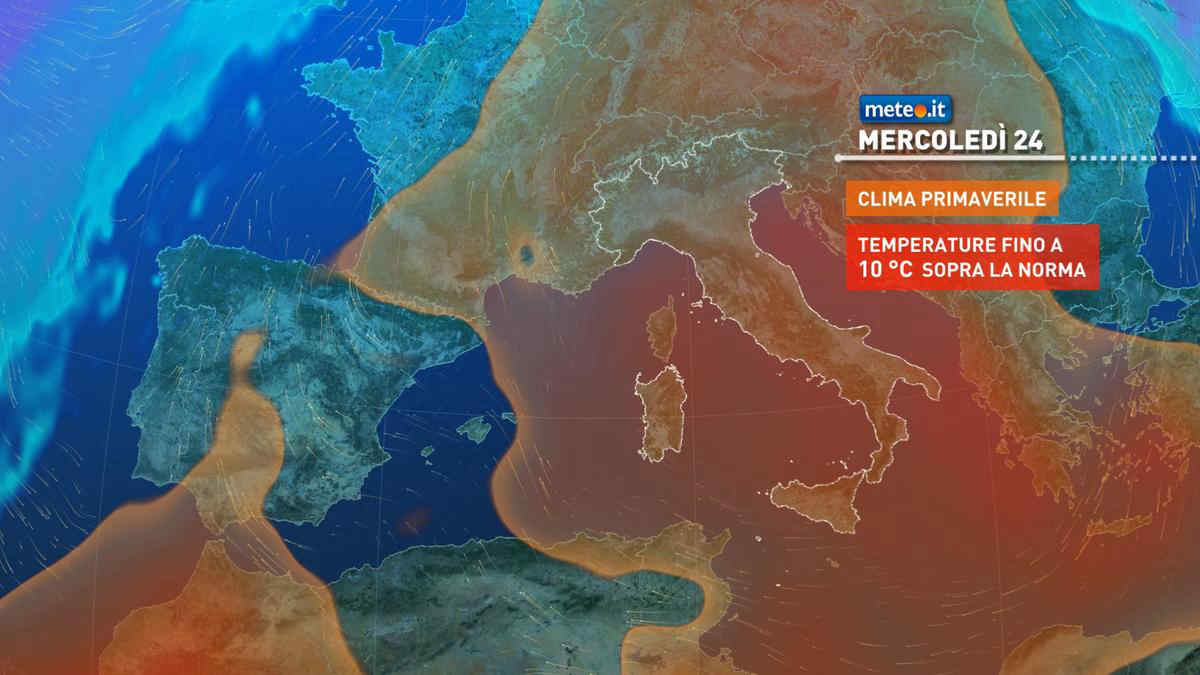 Meteo, l'alta pressione la settimana del 22-28 febbraio si rinforzerà con maggiore decisione
