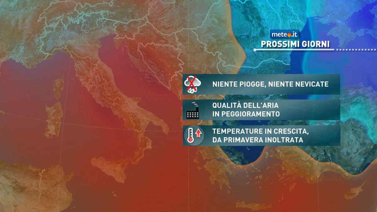 Meteo, clima primaverile anche da giovedì 25 febbraio