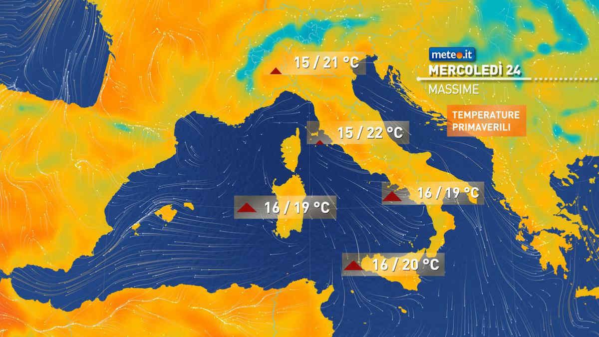 Meteo, mercoledì 24 febbraio prosegue il dominio dell'alta pressione