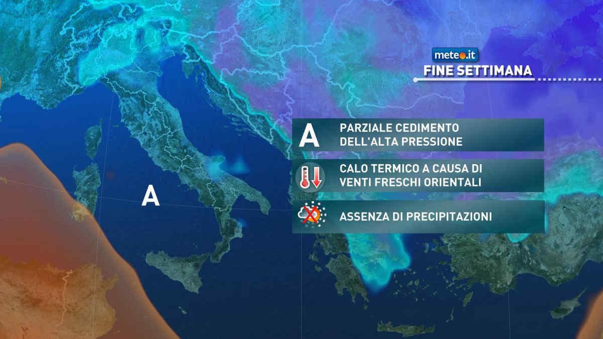 Meteo, nel fine settimana del 27-28 febbraio l'alta pressione tenderà a sfaldarsi
