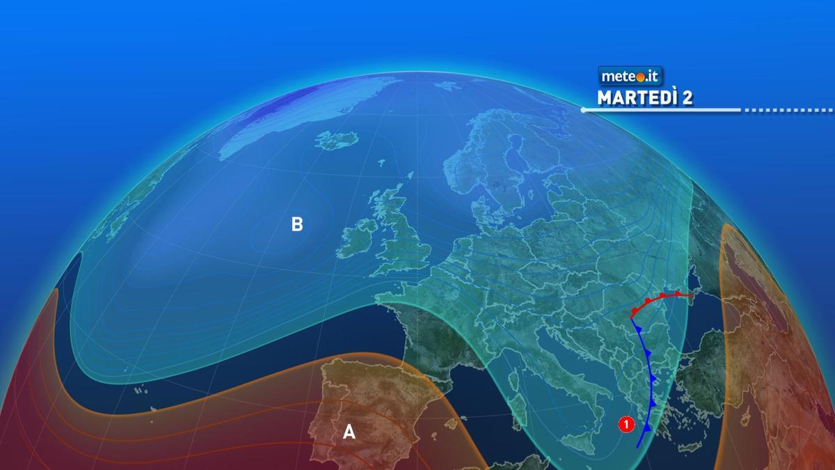 Meteo 2 febbraio: piogge residue al Sud, ma è in arrivo l'anticiclone