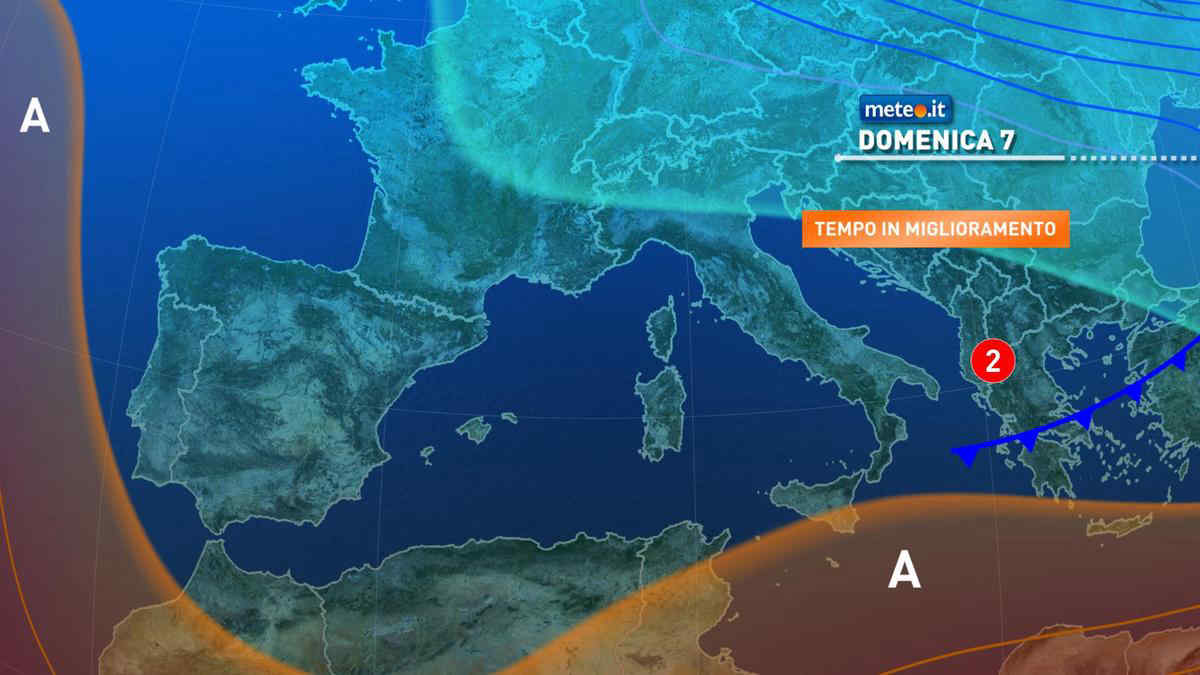 Meteo, domenica 7 marzo piogge residue e temperature in aumento