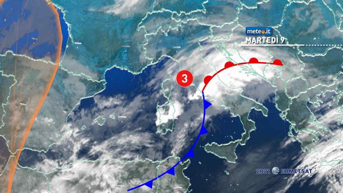 Meteo, 9 marzo di maltempo al Centro e in Sardegna
