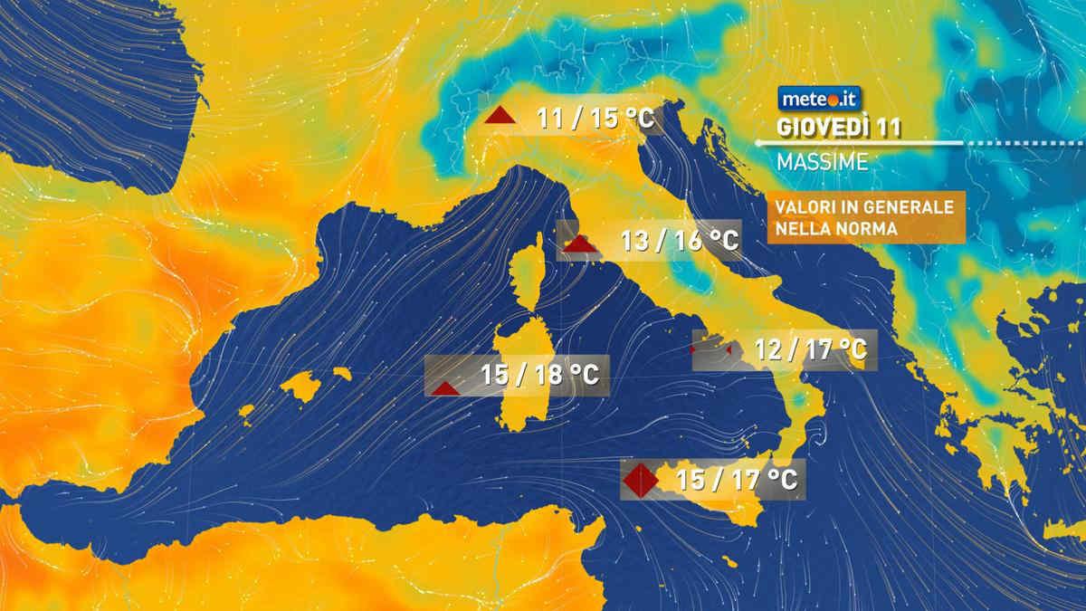 Meteo, oggi giovedì 11 marzo, sole al Sud e nuvole in transito al Centro-Nord