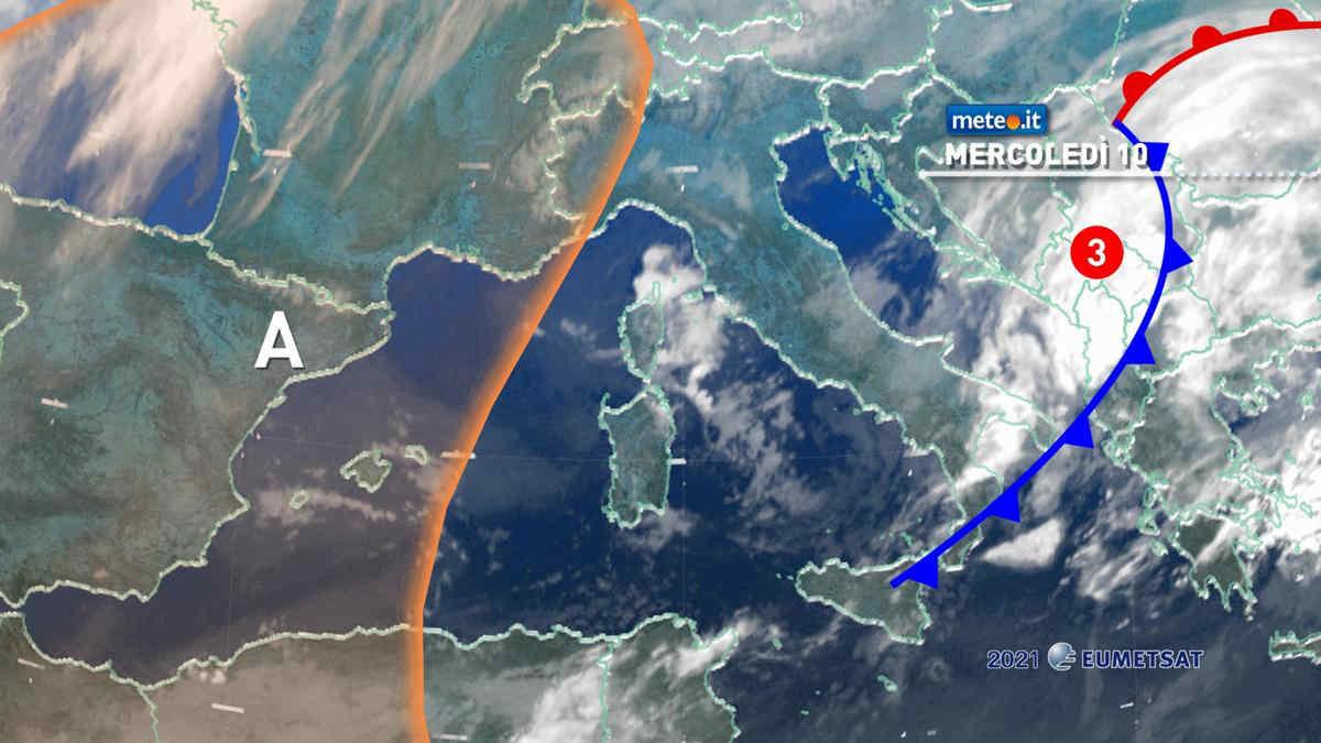 Meteo, mercoledì 10 marzo ultimi effetti della perturbazione al Sud