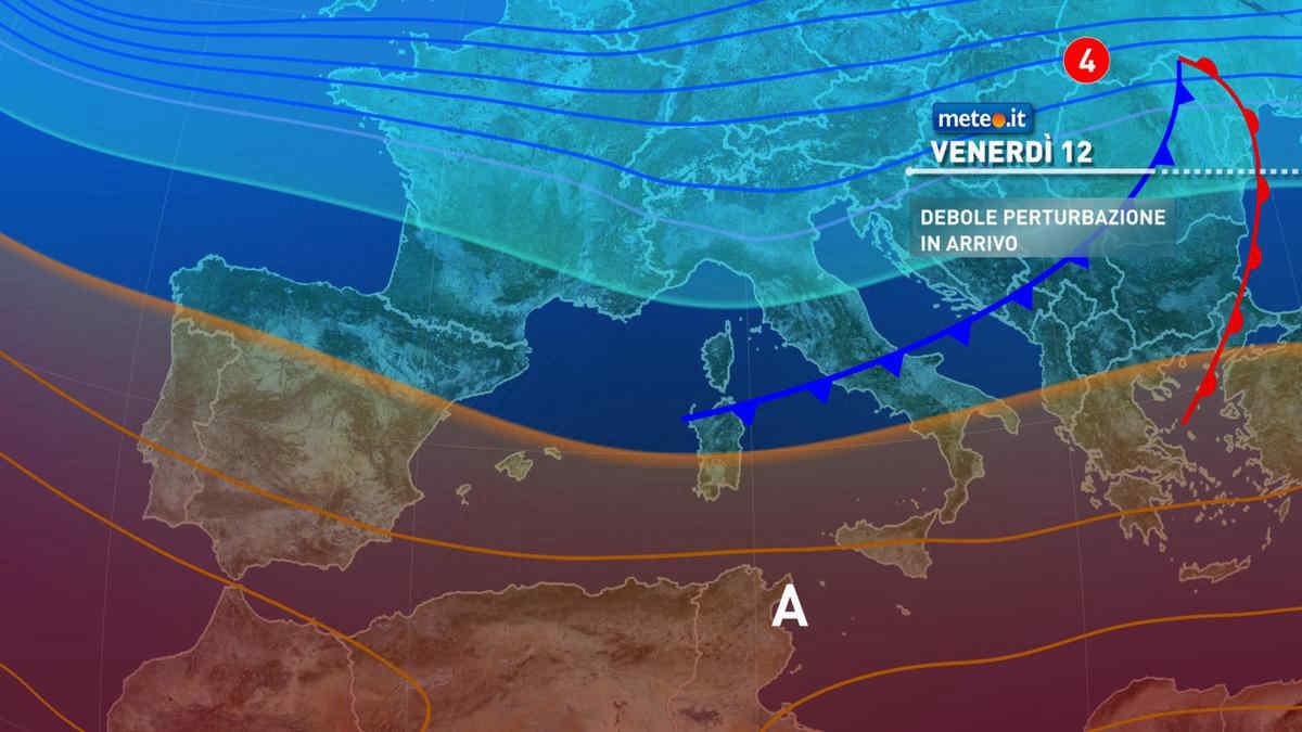 Meteo, 12 marzo con debole perturbazione al Centro-nord