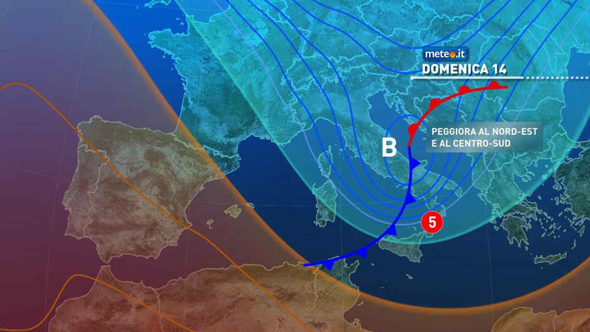 Meteo, da domenica 14 marzo perturbazione poi torna il freddo