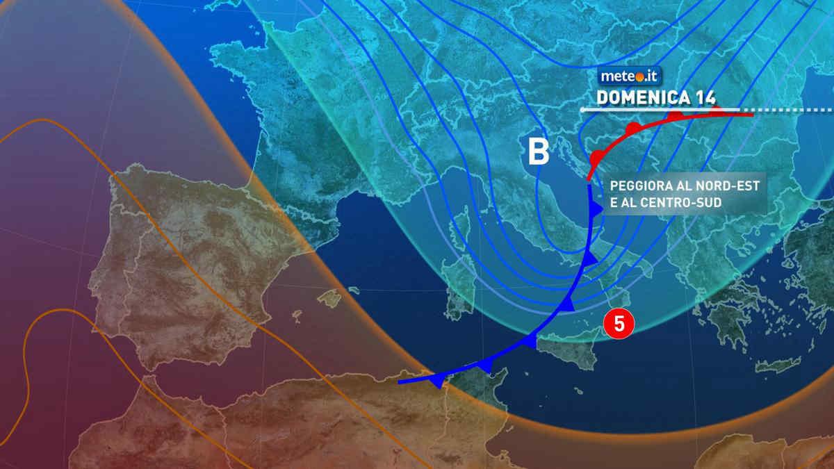 Meteo, domenica 14 marzo segnata dall'arrivo di una perturbazione: le zone coinvolte