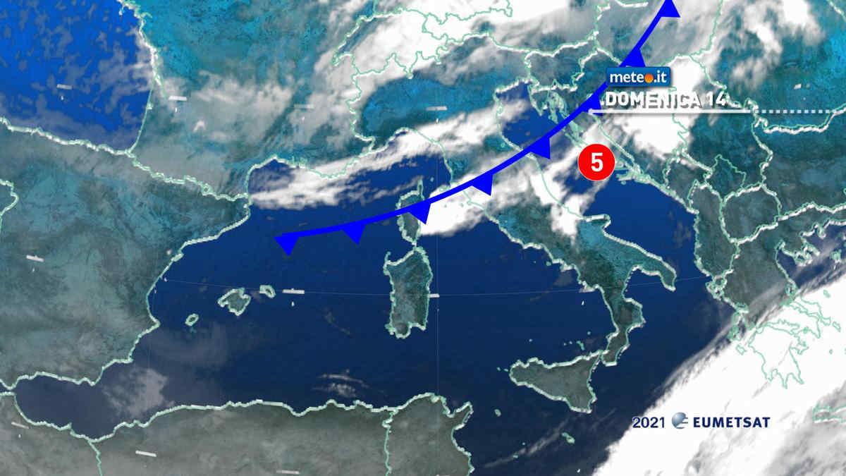 Meteo 14 marzo, perturbazione in transito: le zone coinvolte