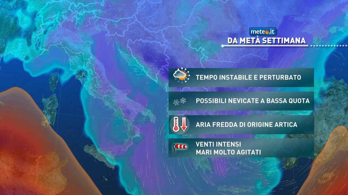 Meteo, ondata di freddo in arrivo: l'apice dopo il 17 marzo