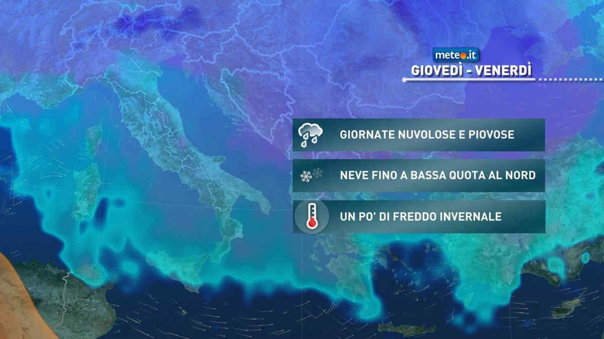 Meteo, da giovedì 18 marzo fase invernale sull'Italia