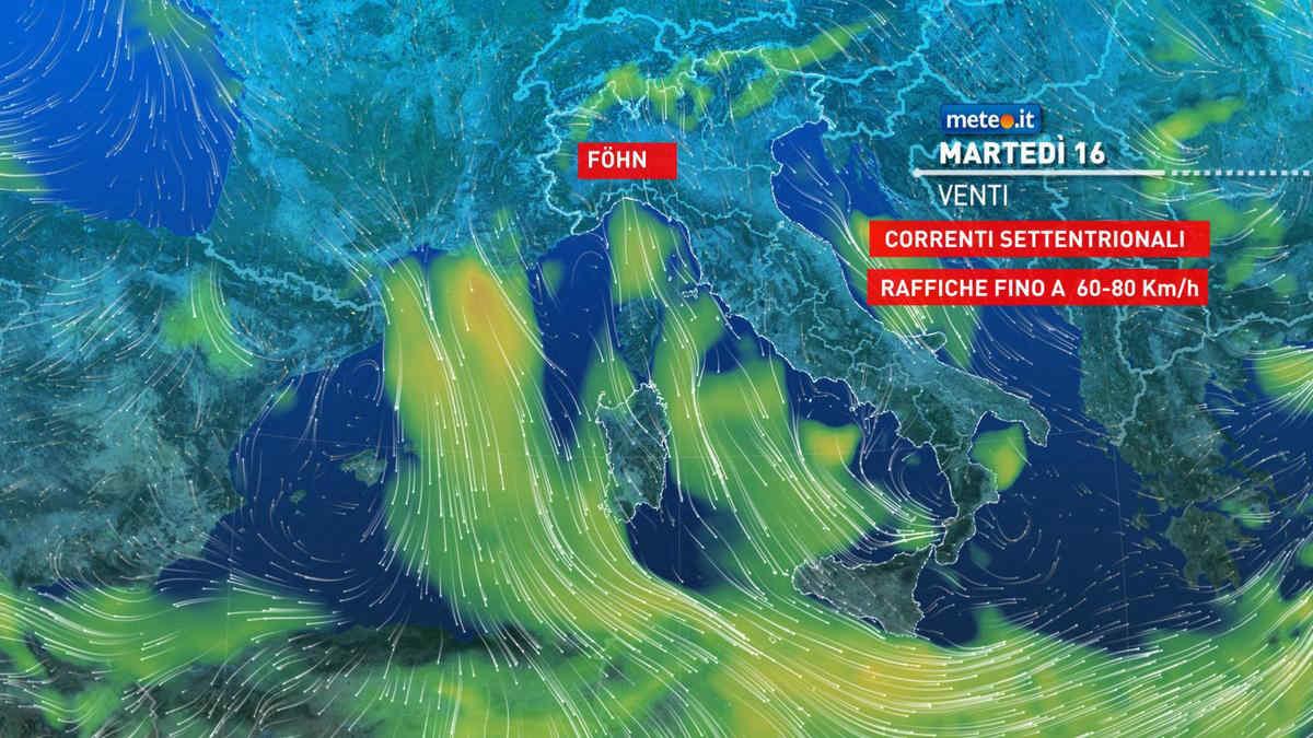 Meteo, 16 marzo instabile e molto ventoso sull'Italia