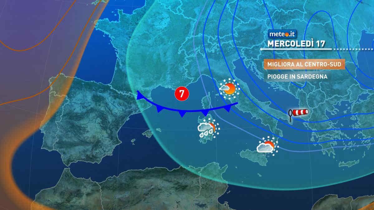 Meteo: 17 marzo con tempo instabile, da domani ulteriore peggioramento e freddo invernale