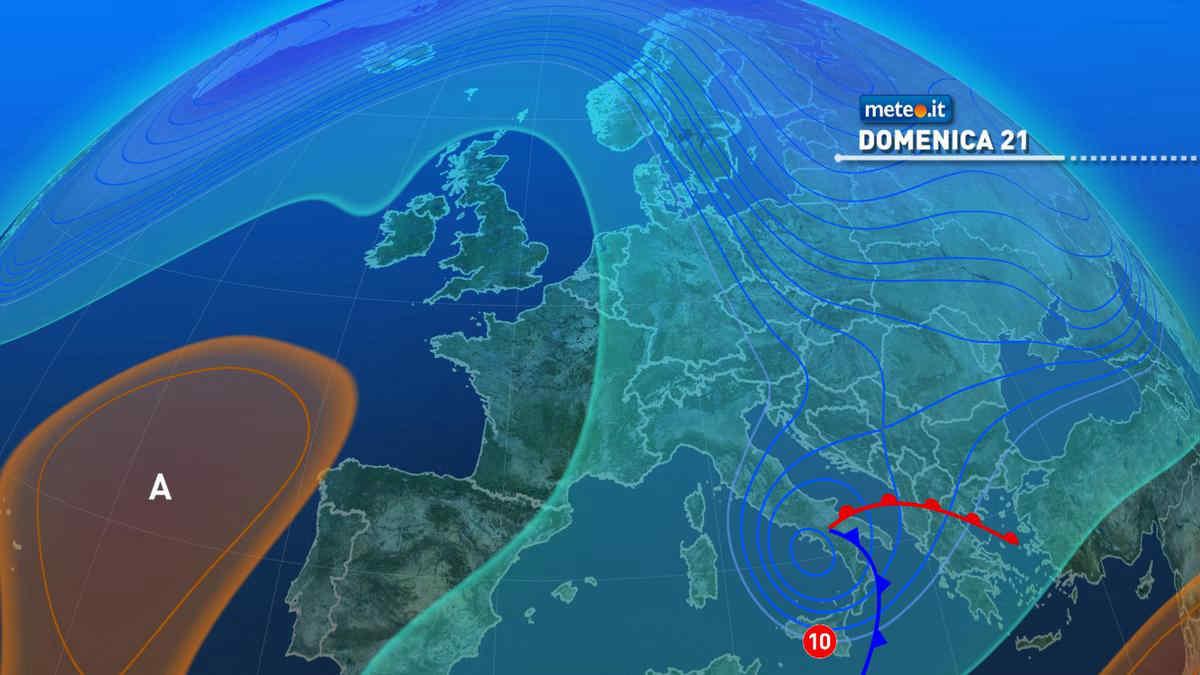 Meteo, nel weekend del 20-21 marzo maltempo al Sud e clima freddo