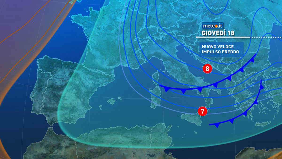 Meteo, dal 18 marzo maltempo in intensificazione e freddo in aumento