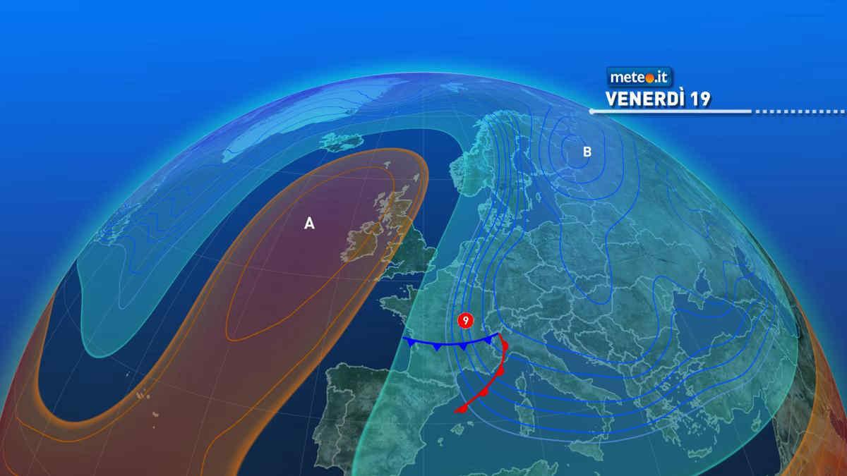 Meteo, 19 marzo instabile e invernale sull'Italia