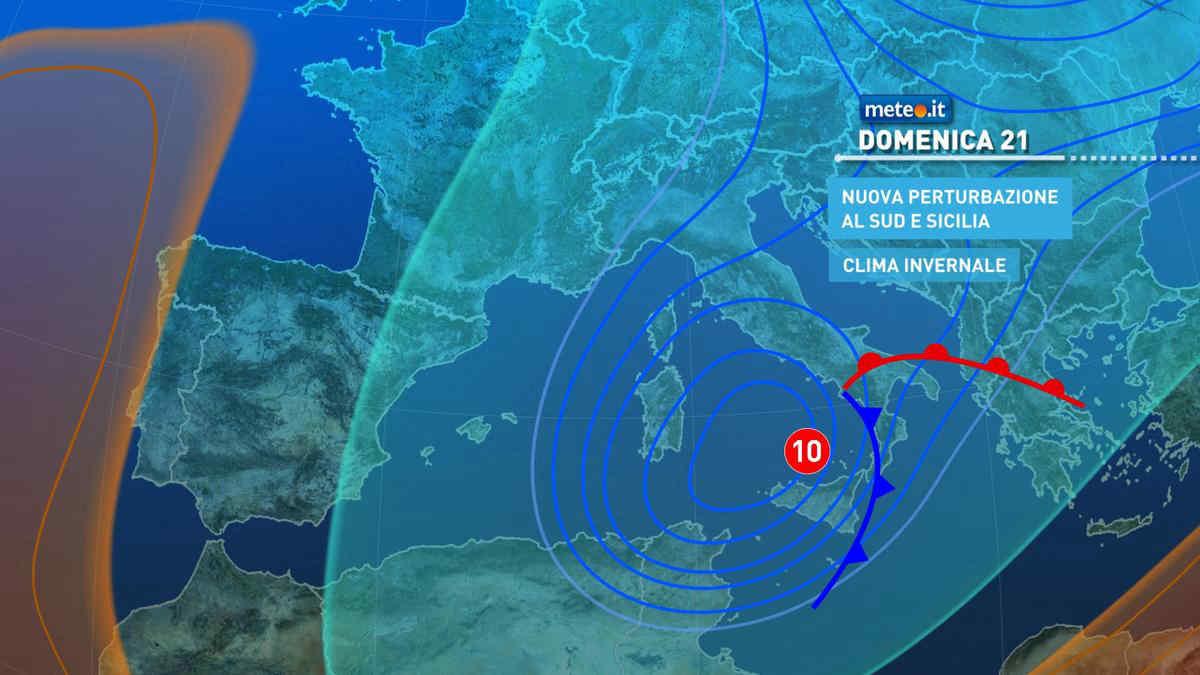 Meteo, domenica 21 marzo clima invernale con maltempo al Sud e Adriatico