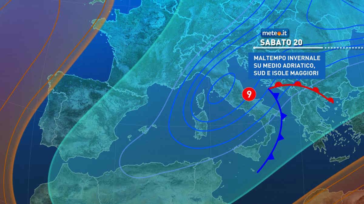 Meteo, weekend del 20-21 marzo condizioni invernali per l'arrivo di altra aria fredda