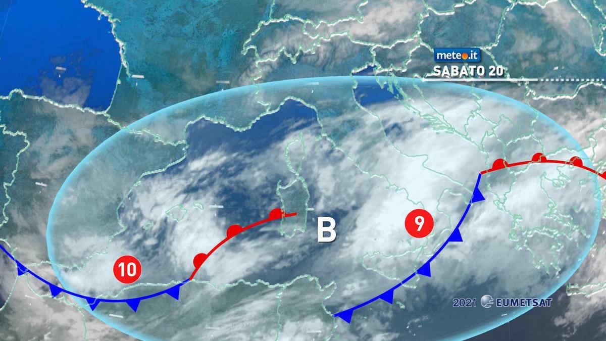 Meteo, 20 marzo con freddo invernale, neve e maltempo al Sud