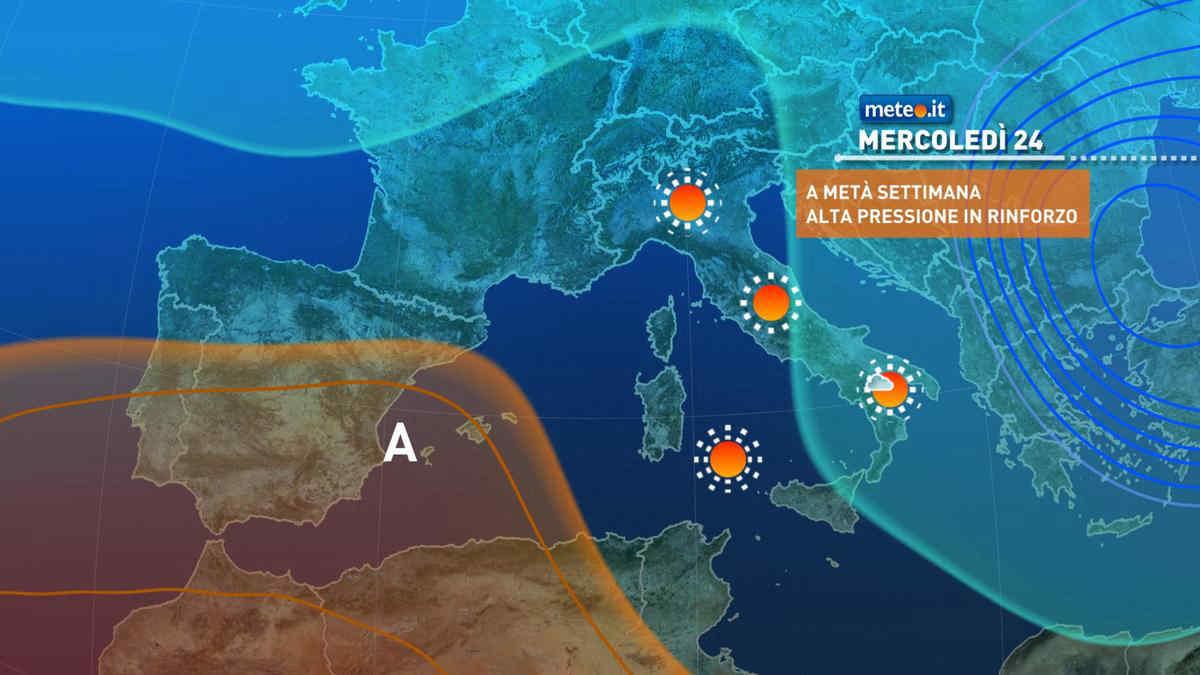 Meteo, dal 24 marzo torna l'alta pressione: stop alla fase invernale e tempo in miglioramento