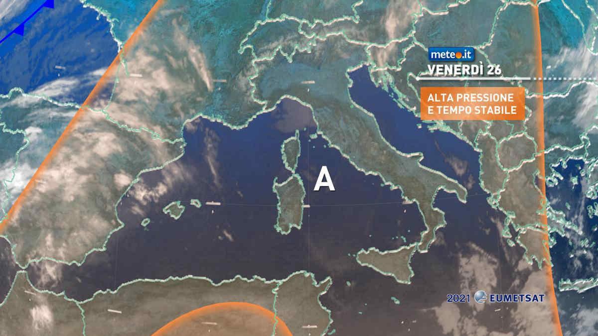 Meteo, 26 marzo stabile e con temperature in aumento anche al Sud