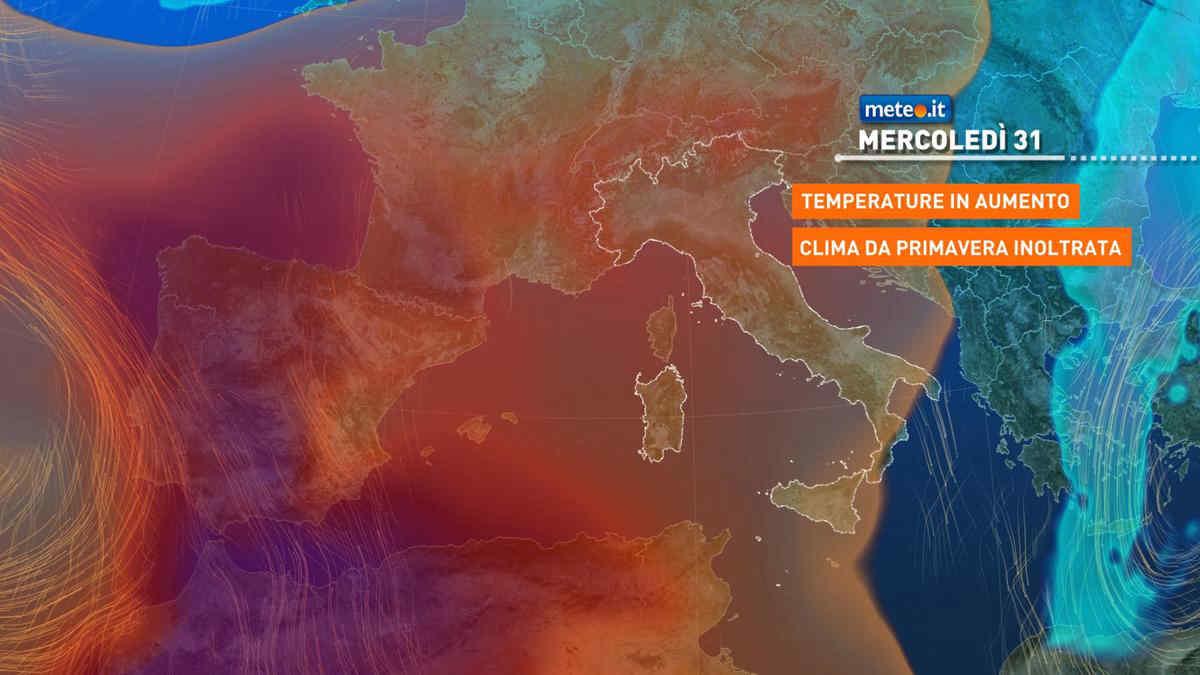 Meteo, 31 marzo con clima mite come a maggio: le zone più calde
