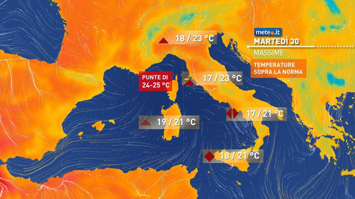 Meteo, 30 marzo con sole e temperature elevate per il periodo