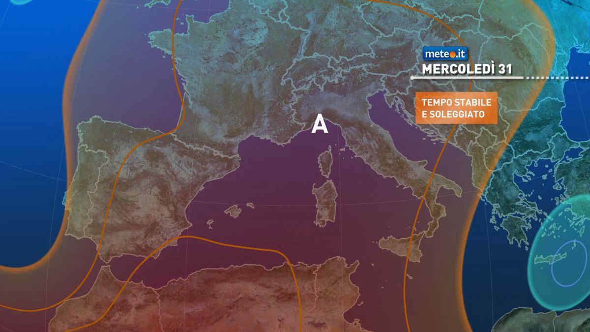 Meteo, 31 marzo sotto l'Anticiclone africano: sole e clima mite