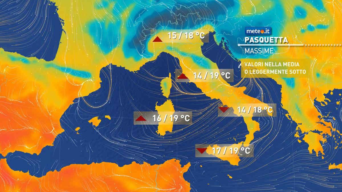 Cartina Meteorologica Dell Italia.Meteo Pasquetta Stabile Poi Torna Il Freddo Invernale Meteo It