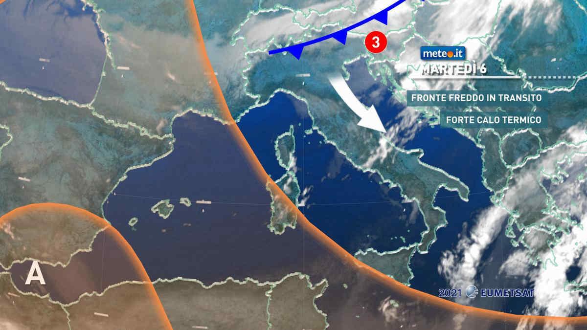 Meteo, da martedì 6 aprile aria fredda e crollo termico