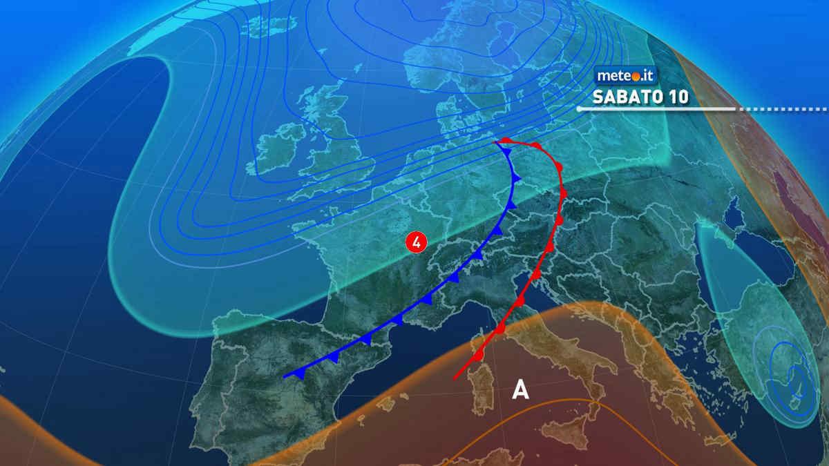 Meteo, weekend del 10-11 aprile con maltempo al Nord e Toscana