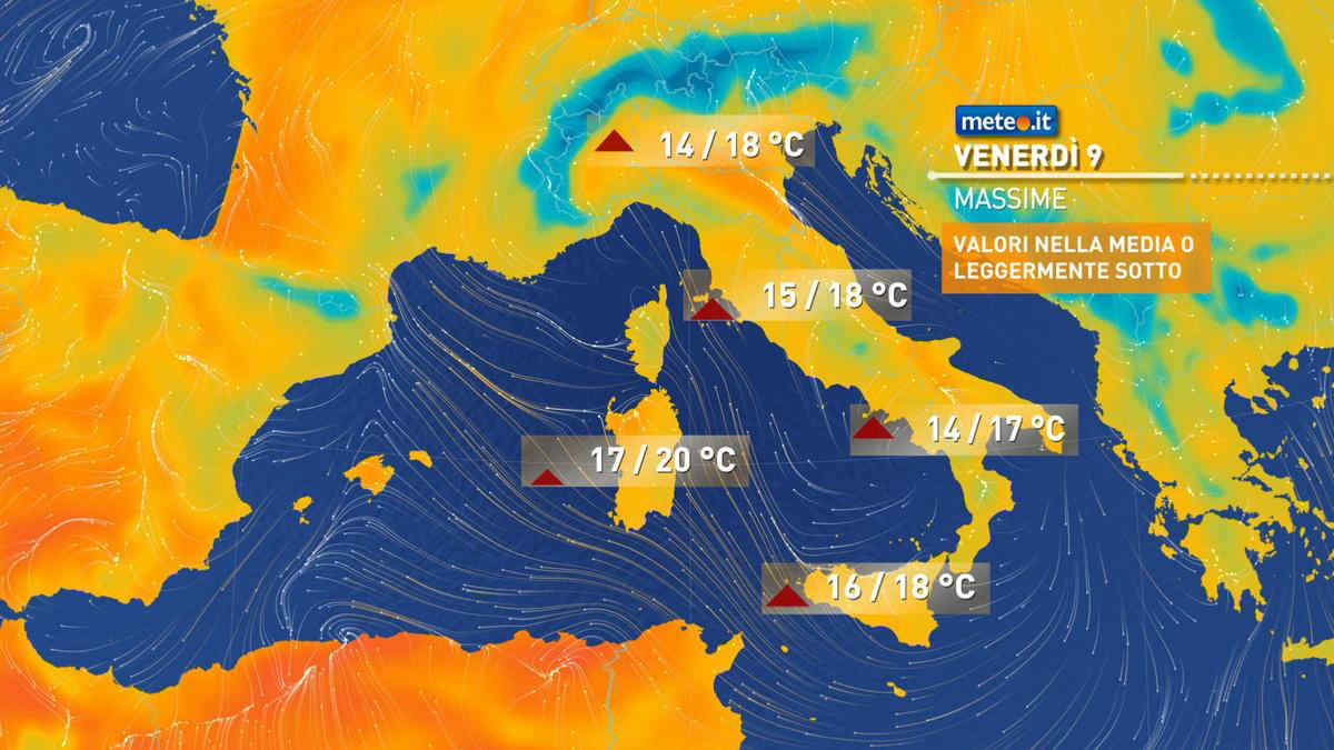 Meteo, venerdì 9 aprile alta pressione e temperature in rialzo