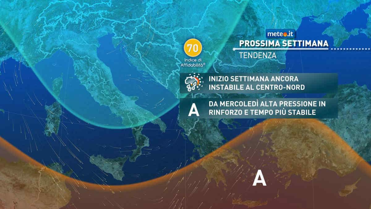 Meteo, domenica 4 aprile piogge al Centro-Nord. Fenomeni anche intensi al Nord