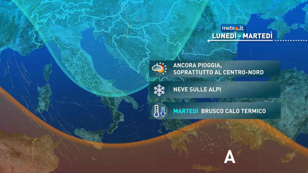 Meteo, piogge tra il 12 e il 13 aprile: le zone a rischio maltempo