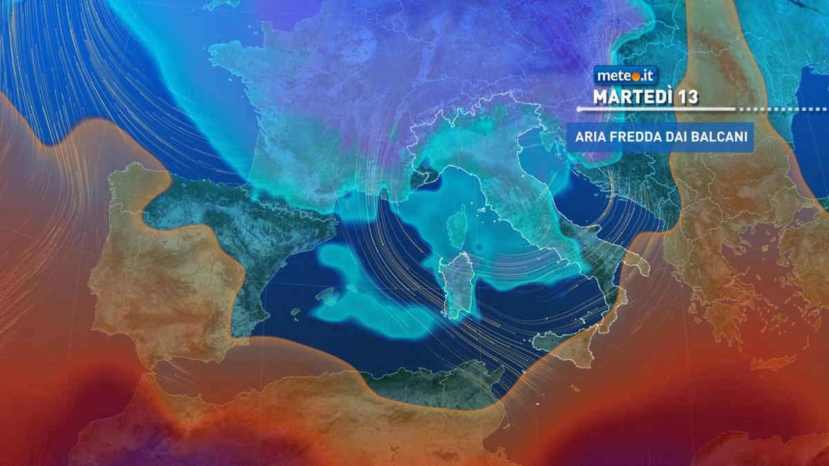 Meteo, martedì 13 aprile  tempo ancora instabile poi calo termico