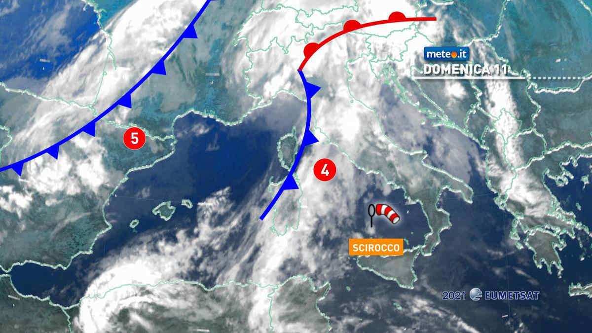 Meteo, 11 aprile con forti piogge: le zone a rischio