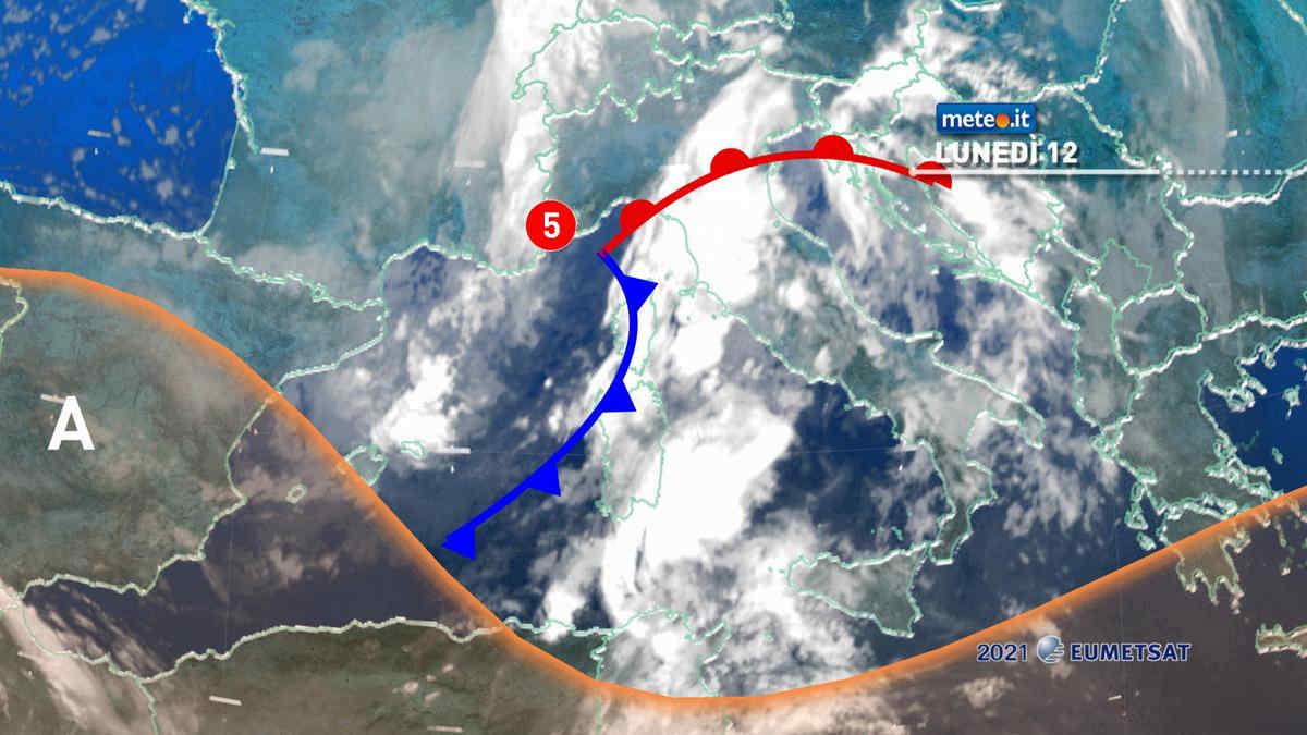 Meteo, 12 aprile segnato dal maltempo: rischio di piogge intense