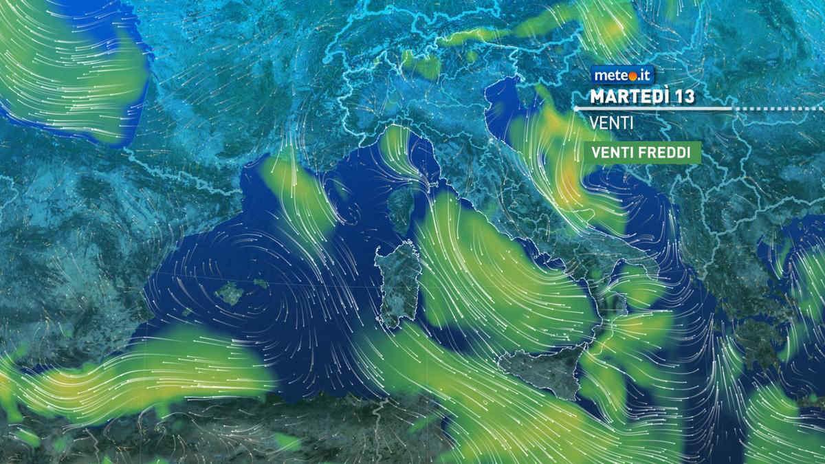 Meteo, 13 aprile segnato dal maltempo: piogge, venti intensi e temperature in calo