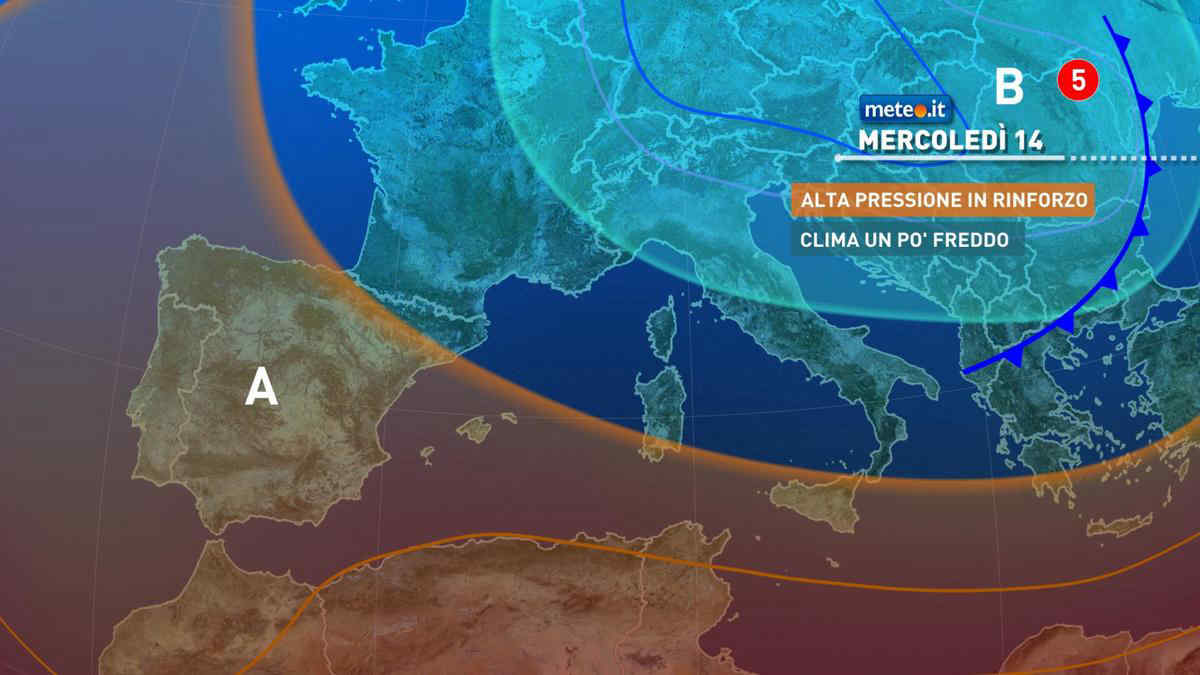 Meteo, 14 aprile più stabile ma con temperature sotto le medie