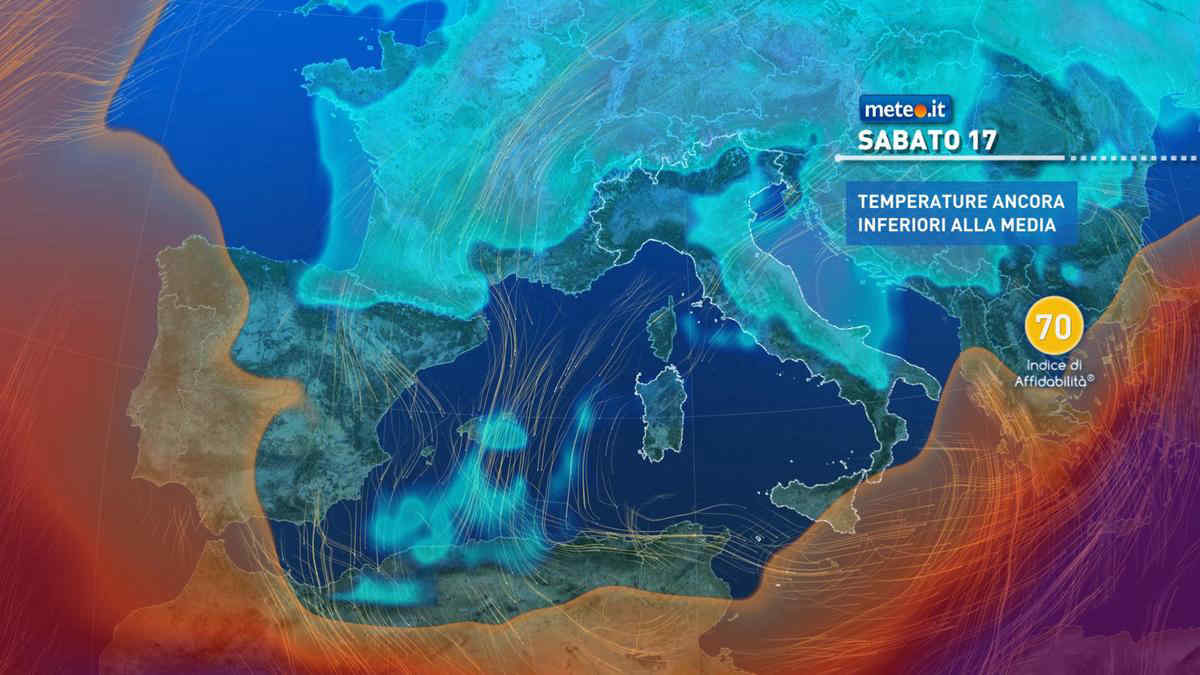 Meteo, tempo molto variabile nel weekend del 17-18 aprile