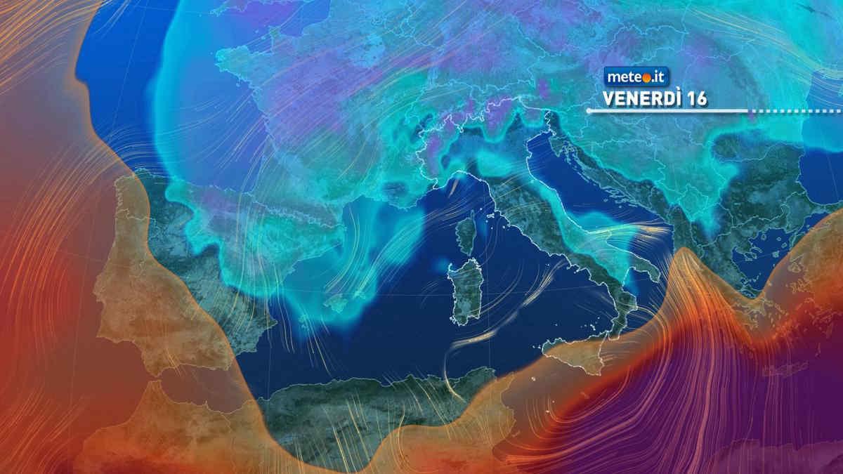 Meteo, 16 aprile instabile e piovoso al Sud e Isole