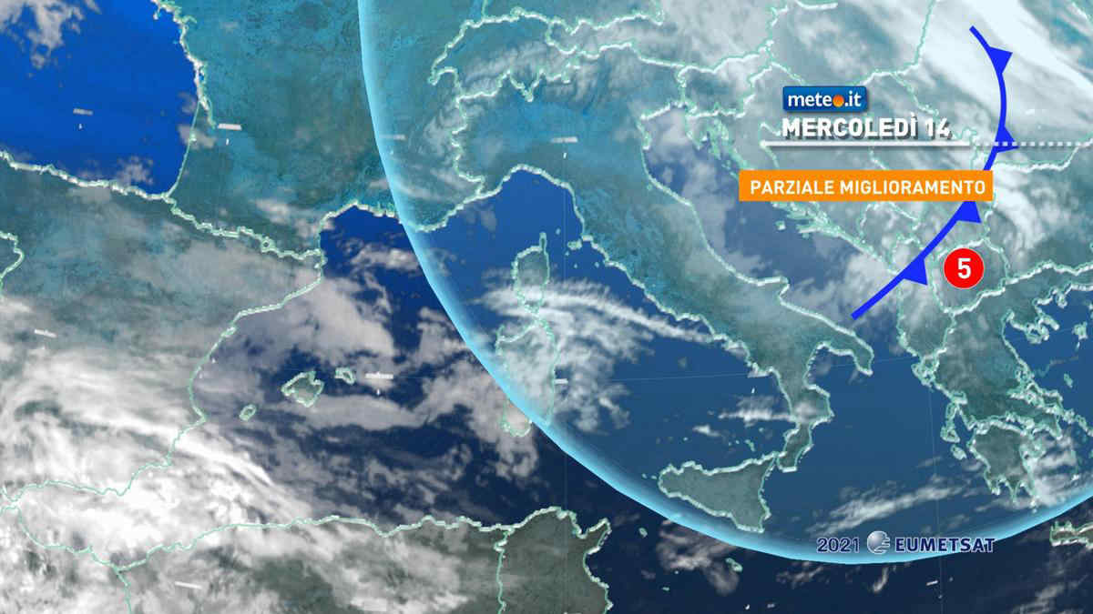 Meteo, 14 aprile con parziale miglioramento ma atmosfera instabile