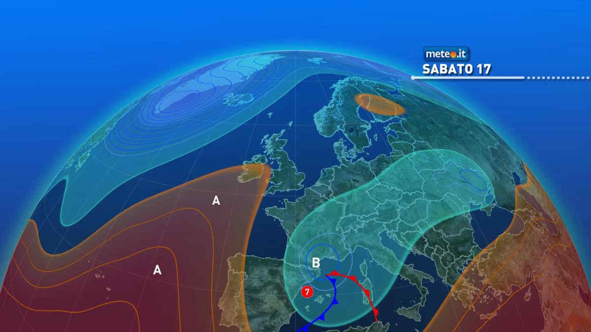 Meteo, weekend del 17-18 aprile instabile al Centro-sud