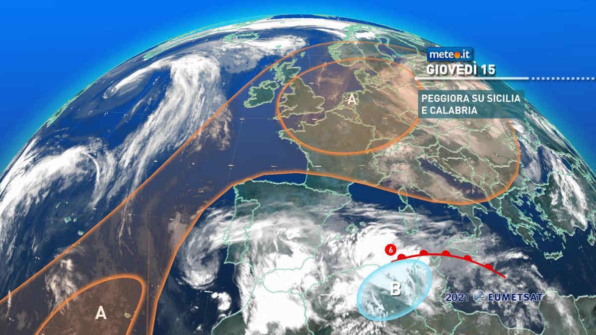 Meteo, 15 aprile con piogge in Sicilia e instabilità al Centro-nord