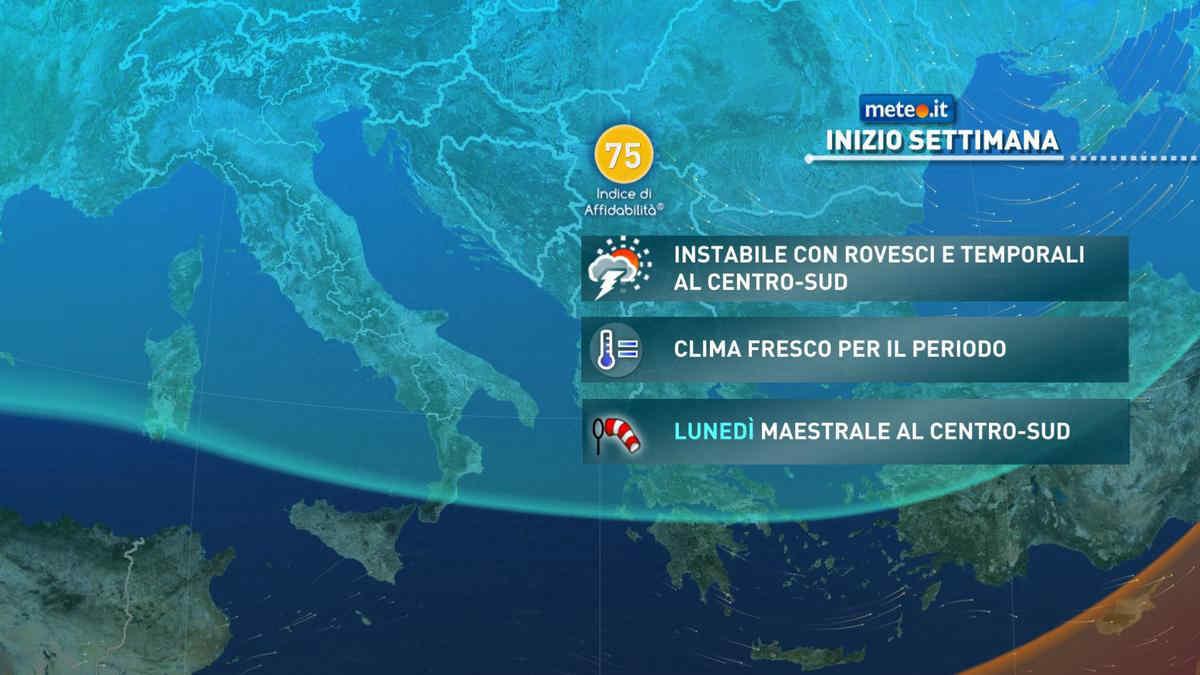 Meteo, tra lunedì 19 e martedì 20 aprile nuove fasi instabili