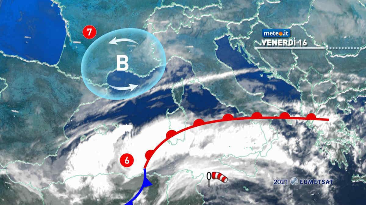 Meteo, 16 aprile instabile e ventoso al Sud e Isole